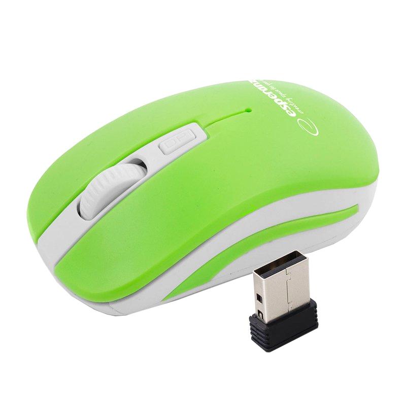 Mouse optic Uranus Esperanza, 4D, USB, 1600 DPI, 4 butoane, raza actiune 10 m, Verde/Alb 2021 shopu.ro