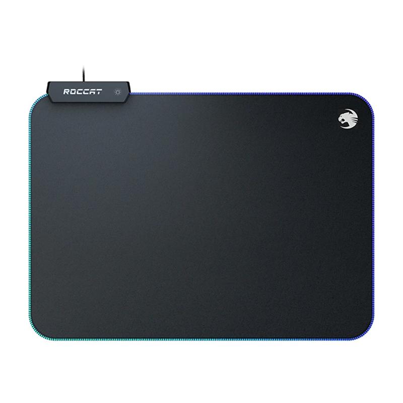 Mousepad Sense Aimo Roccat, marimea M, 35 x 25 cm, textil, iluminare RGB, Negru 2021 shopu.ro