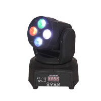 Moving head tip wash, 4 LED-uri RGBW, 8 programe integrate, 4 x 10 W