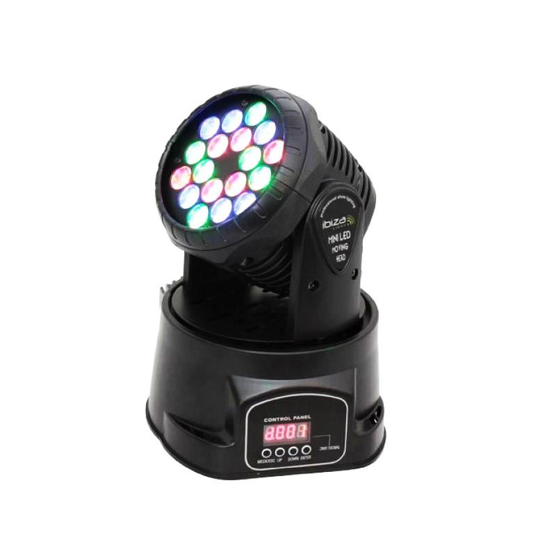 Moving head, 18 LED-uri multicolore, 18 x 3 W 2021 shopu.ro