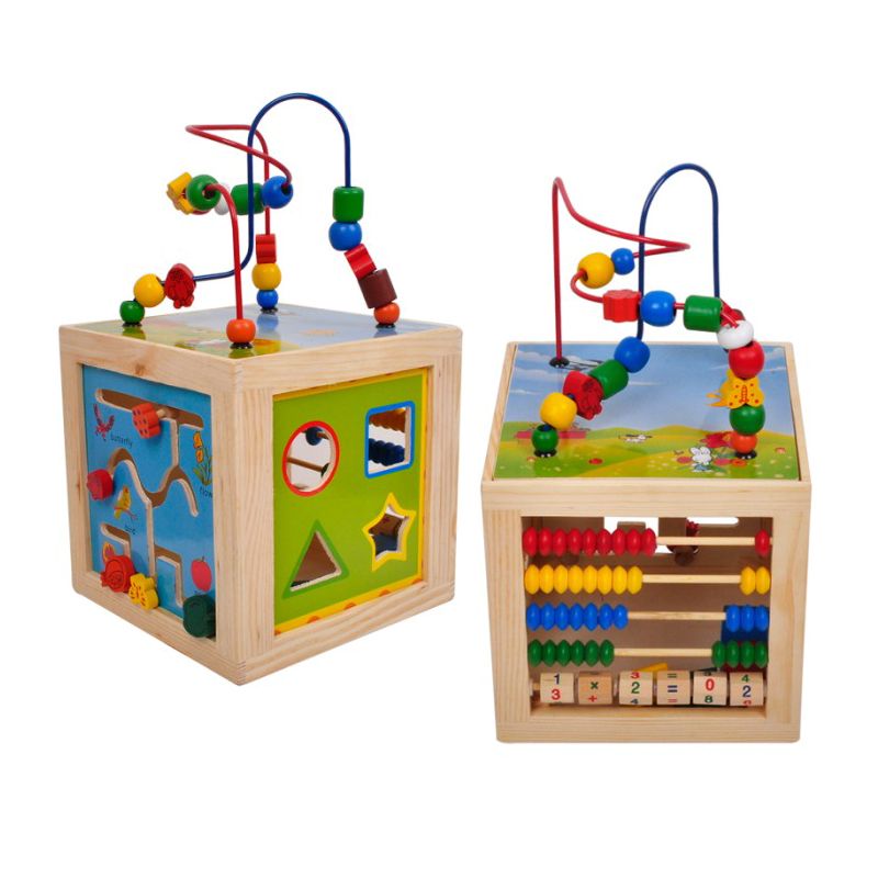 Cub educativ multifunctional 5 in 1, lemn