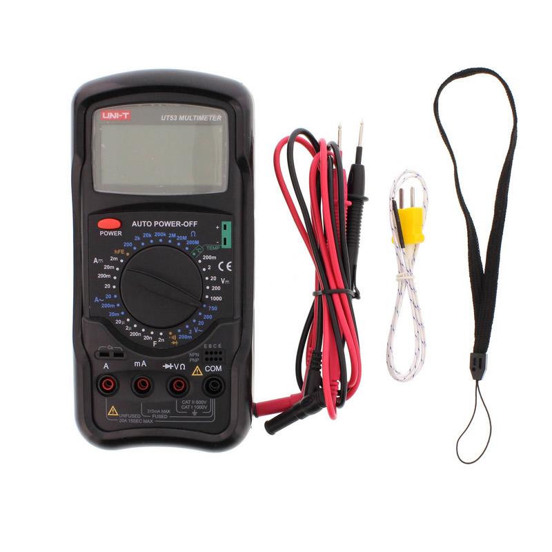 Multimetru UNI-T UT53, testare diode, masurare continuitate shopu.ro