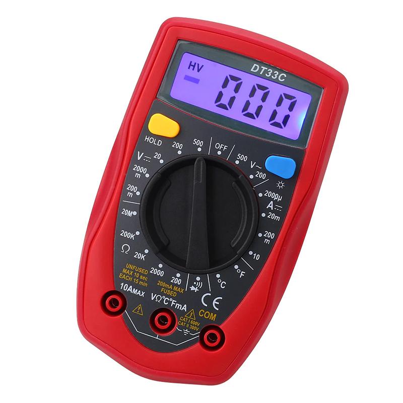 Multimetru digital DT33C, memorie date, masurare dioda shopu.ro