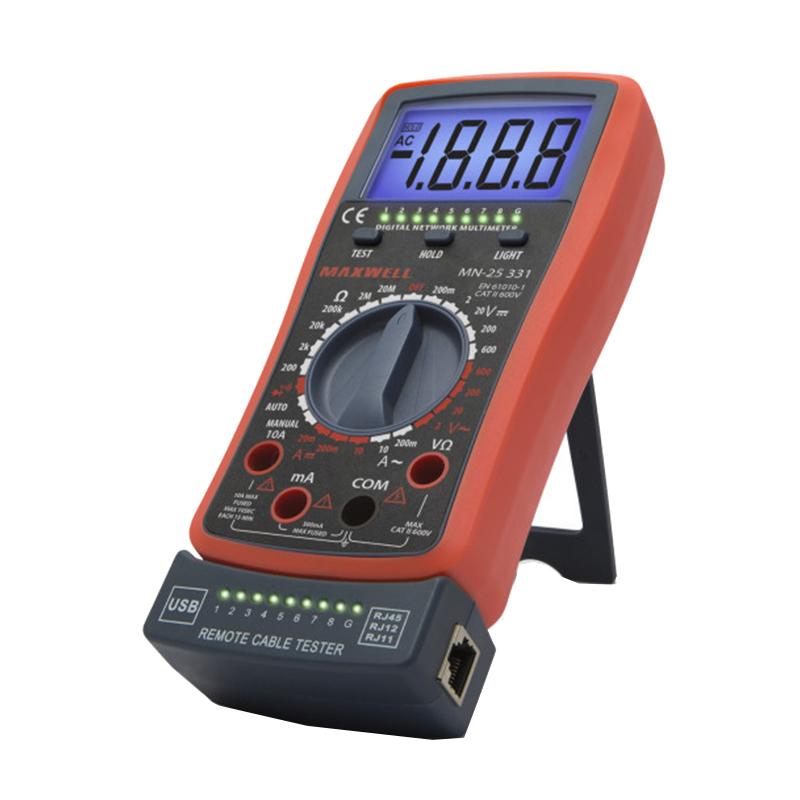 Multimetru digital automat Maxwell, 9 V, 200 x 90 x 35 mm, test dioda, iluminare fundal, tester cablu shopu.ro
