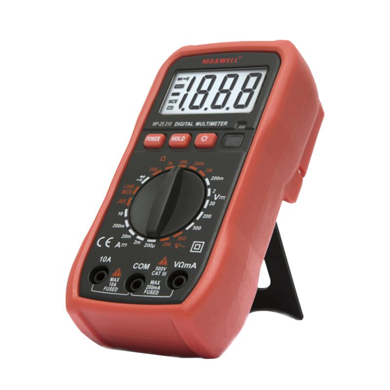 Multimetru digital de buzunar Maxwell, 1 x 9 V, test dioda, mentinerea valorii 2021 shopu.ro