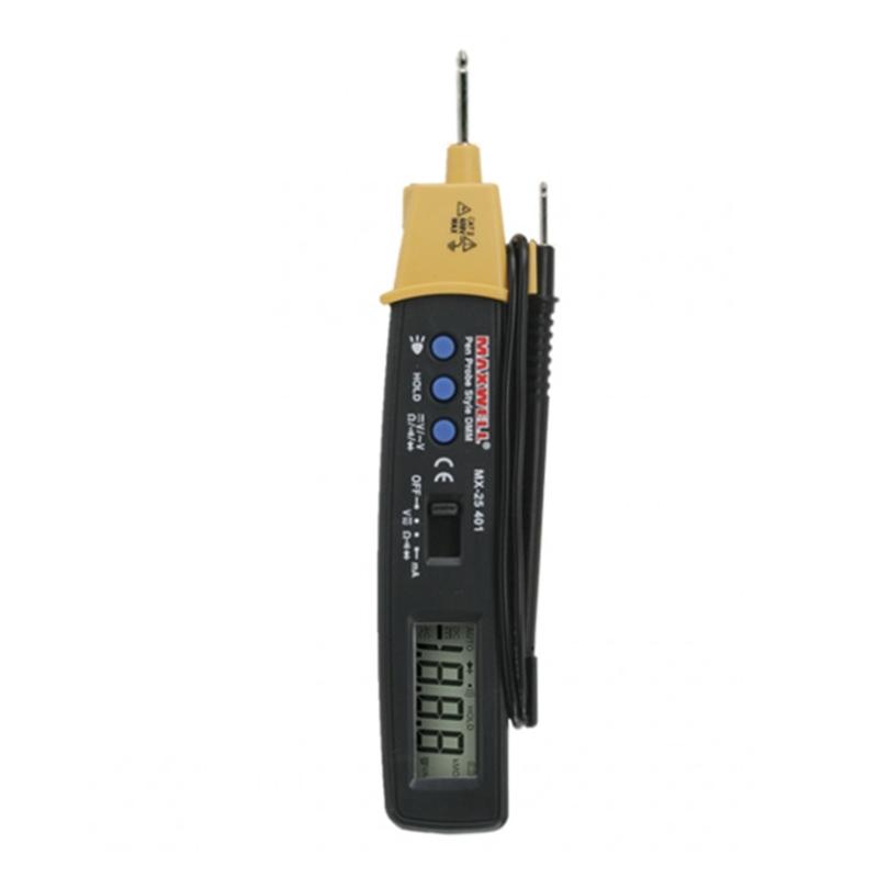 Multimetru digital tip creion Maxwell, test dioda, baterie CR2032, lampa LED 2021 shopu.ro
