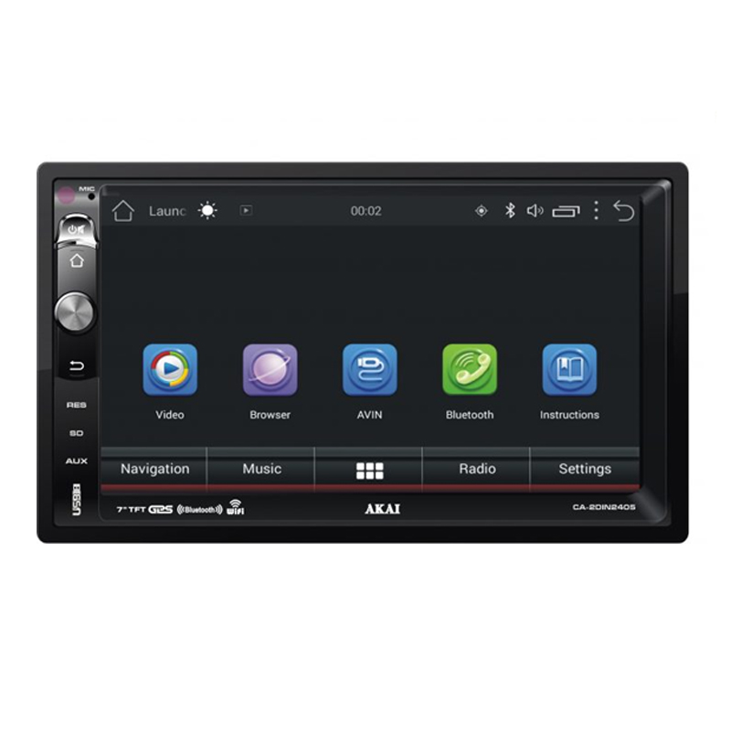 Navigatie auto Multimedia Akai, 2 x DIN, Android 5.0, 1024 x 600 px, GPS, USB, SD Card, telecomanda 2021 shopu.ro