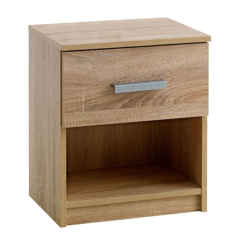 Noptiera cu sertar, 41 x 48 x 32 cm, HDF/melamina, Stejar shopu.ro
