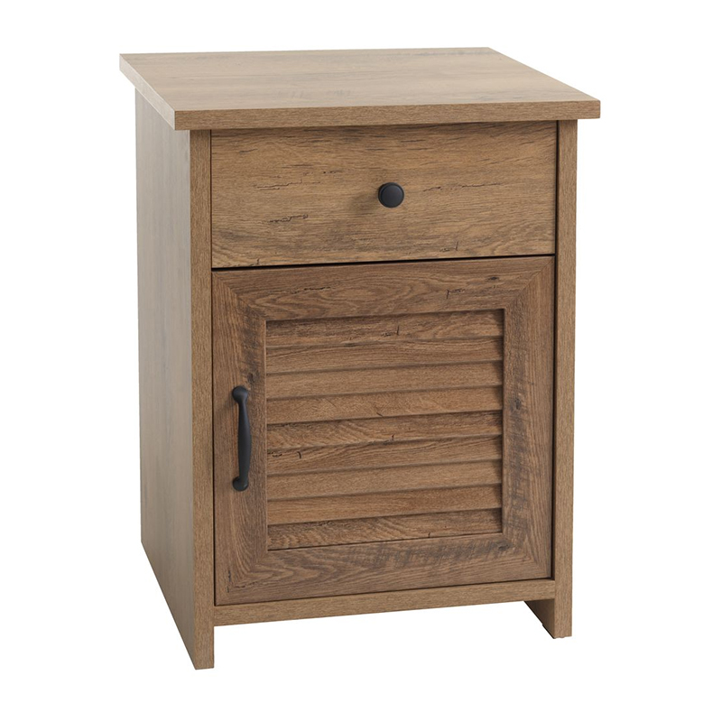 Noptiera cu sertar, 48 x 66 x 42 cm, HDF/MDF, Stejar 2021 shopu.ro