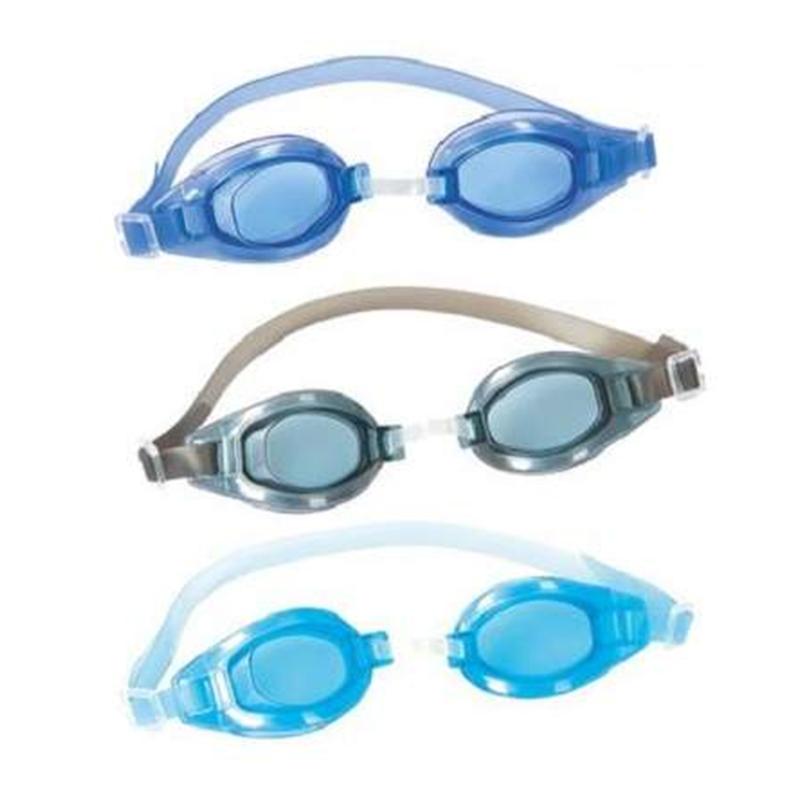 Ochelari pentru inot Cristal Clear Bestway, policarbonat, banda ajustabila, 7-14 ani, Albastru 2021 shopu.ro
