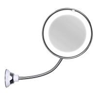 Oglinda cosmetica cu iluminare Ultra Flexible Mirror, factor marire 10x