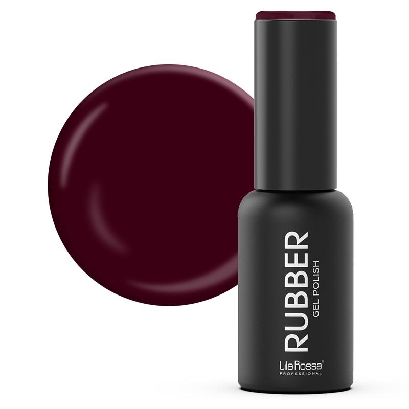 Oja semipermanenta Rubber Lila Rossa 043, 7 ml, Marsala 2021 shopu.ro