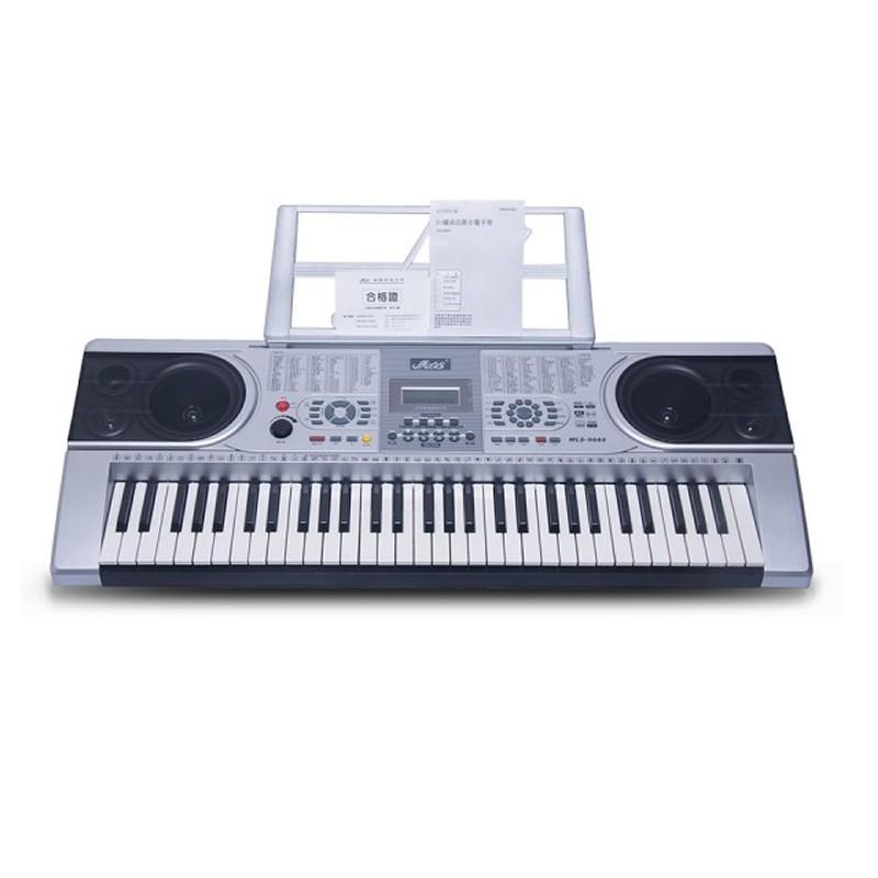 Orga 61 clape MLS-9688, 128 ritmuri, 30 melodii, LCD, boxe incorporate 2021 shopu.ro