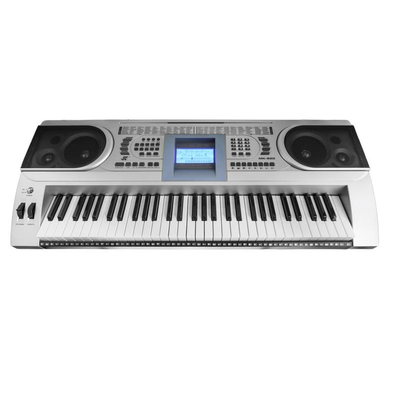 Orga electronica MK-920, 61 clape, LCD, 100 timbre, 100 ritmuri, 6 melodii demo, boxe incorporate 2021 shopu.ro