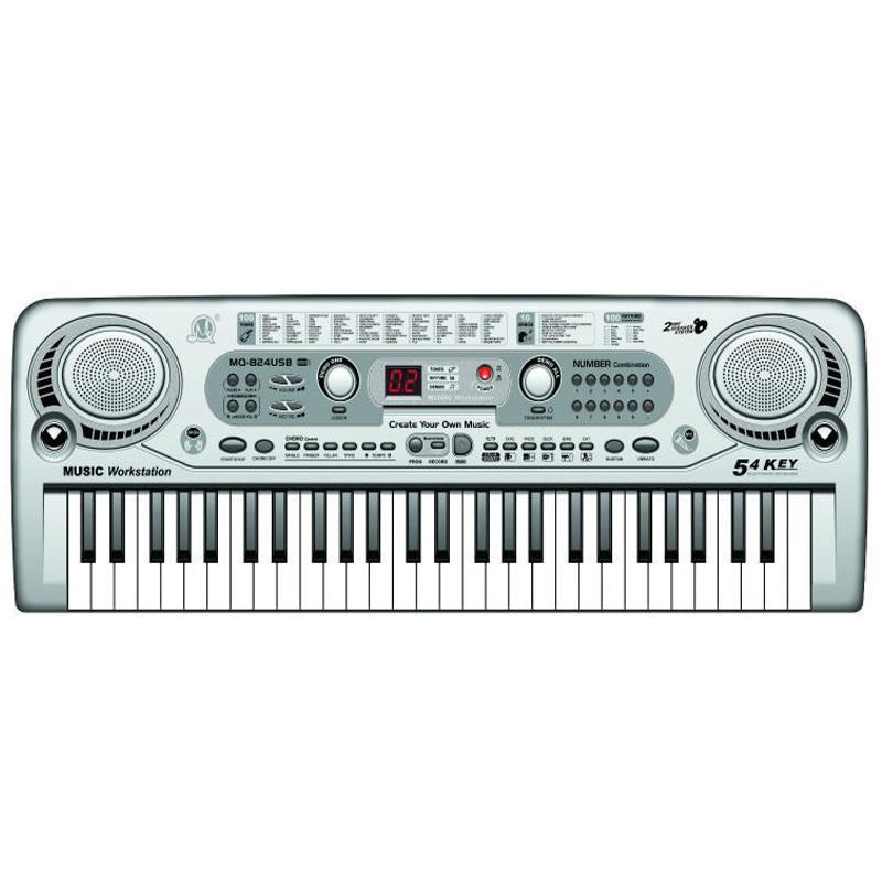 Orga electronica cu 54 clape MQ-824USB, microfon si USB/MP3 2021 shopu.ro