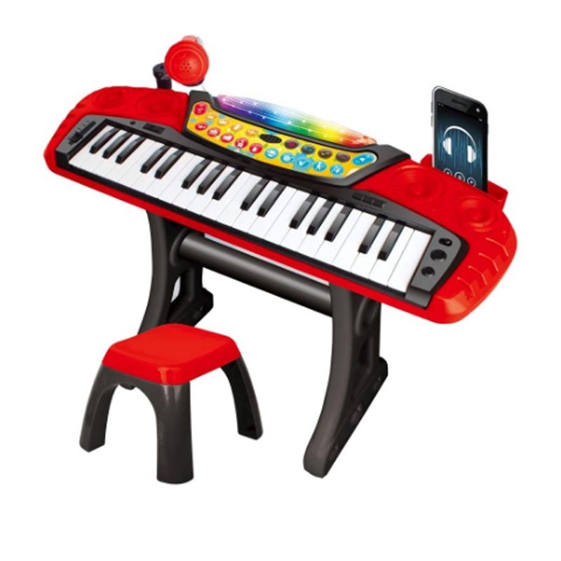 Orga electronica cu microfon Keyboards, 37 clape, stativ si scaun incluse, 3 ani+
