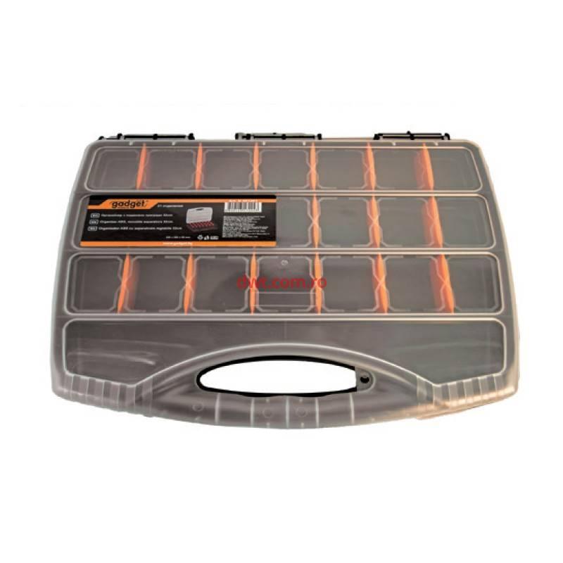 Organizator ABS Gadget, 48 x 37.5 x 7.5 cm, separatoare reglabile 2021 shopu.ro