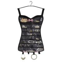 Organizator bijuterii in forma de corset, Negru