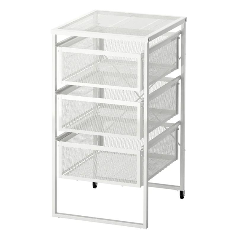 Organizator birou cu roti, 30 x 34 x 56 cm, Argintiu 2021 shopu.ro