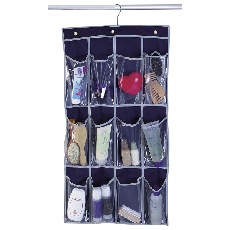 Organizator depozitare Coronet, 85 x 45 cm, 12 compartimente, plastic, Albastru 2021 shopu.ro
