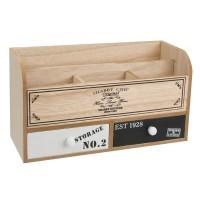 Organizator lemn cu sertare Shabby Chic, 28  x 11 cm, 2 sertare
