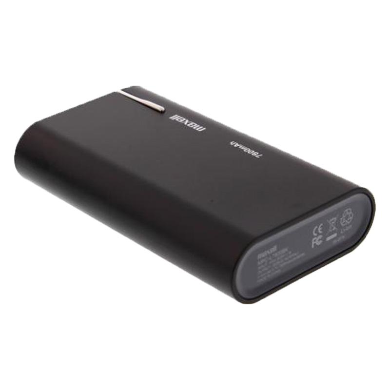 Acumulator portabil Maxell, 7800 mAh, USB, Negru