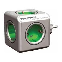 Fisa multipriza PowerCube Allocacoc, 5 prize, Verde/Gri