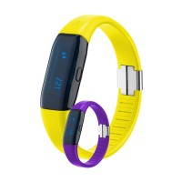 Set pedometru 3D Activity Tracker Trisa, 2 bucati, Galben/Violet