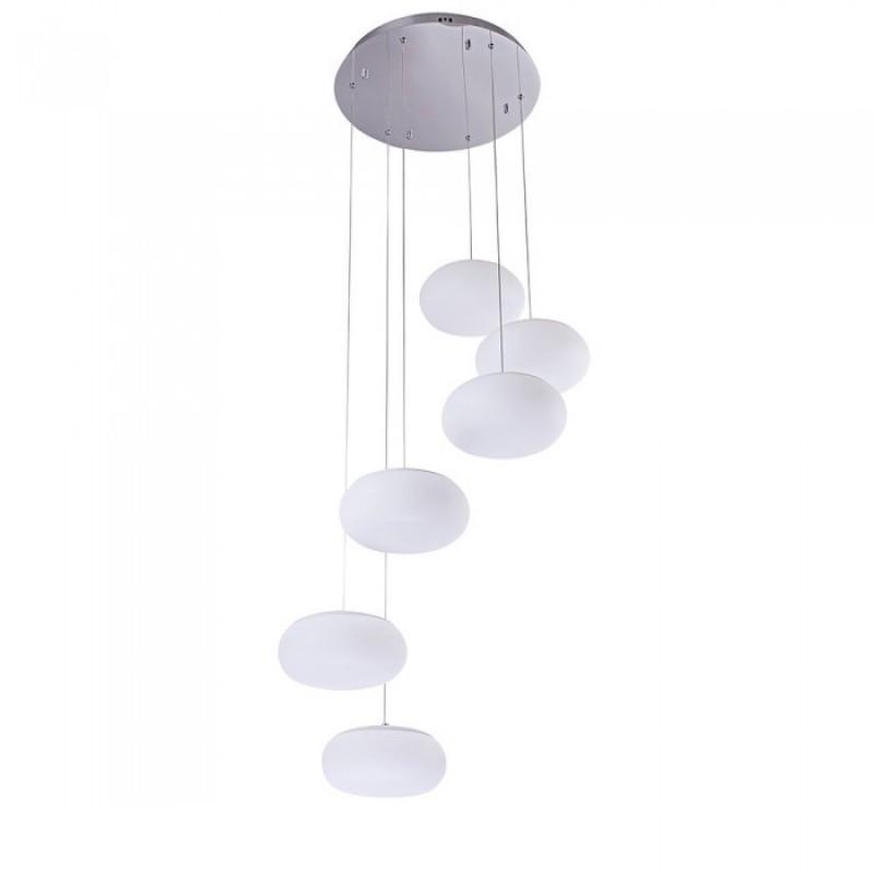 Pendul LED dimabil 72 W, 6500 lm, 3000 K, lumina calda, Alb shopu.ro