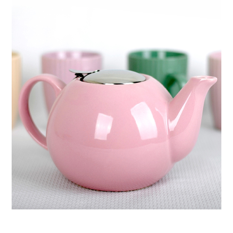 Ceainic ceramica cu sita Peterhof, 1.25 l, roz