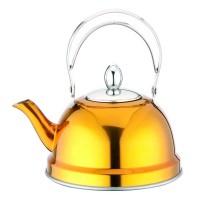 Ceainic inox cu sita Peterhof PH-15520, 0.7 l, galben