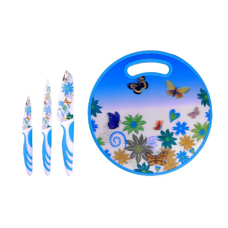 Set cutite 4 piese Peterhof PH-22390, inox, Albastru