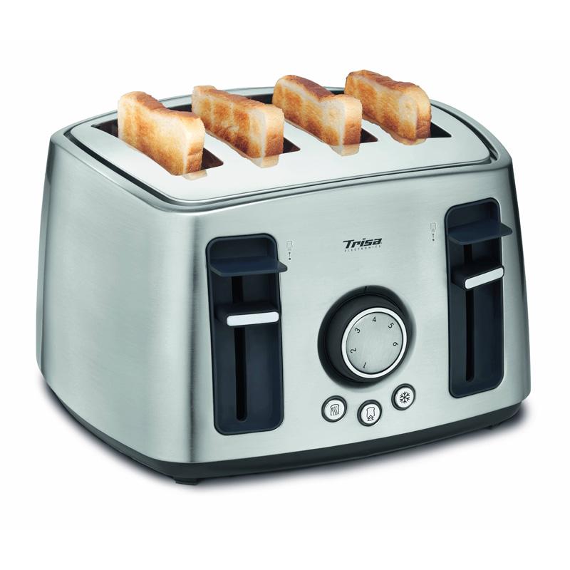 Prajitor de paine Family Toast Trisa, 1600 W, 4 felii, argintiu 2021 shopu.ro