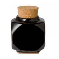 Pahar din portelan cu dop pentru vopsele, Negru