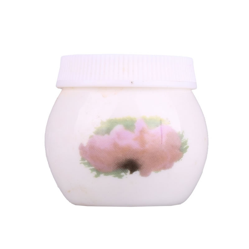 Paharel din ceramica cu capac VCCC01, model floral 2021 shopu.ro