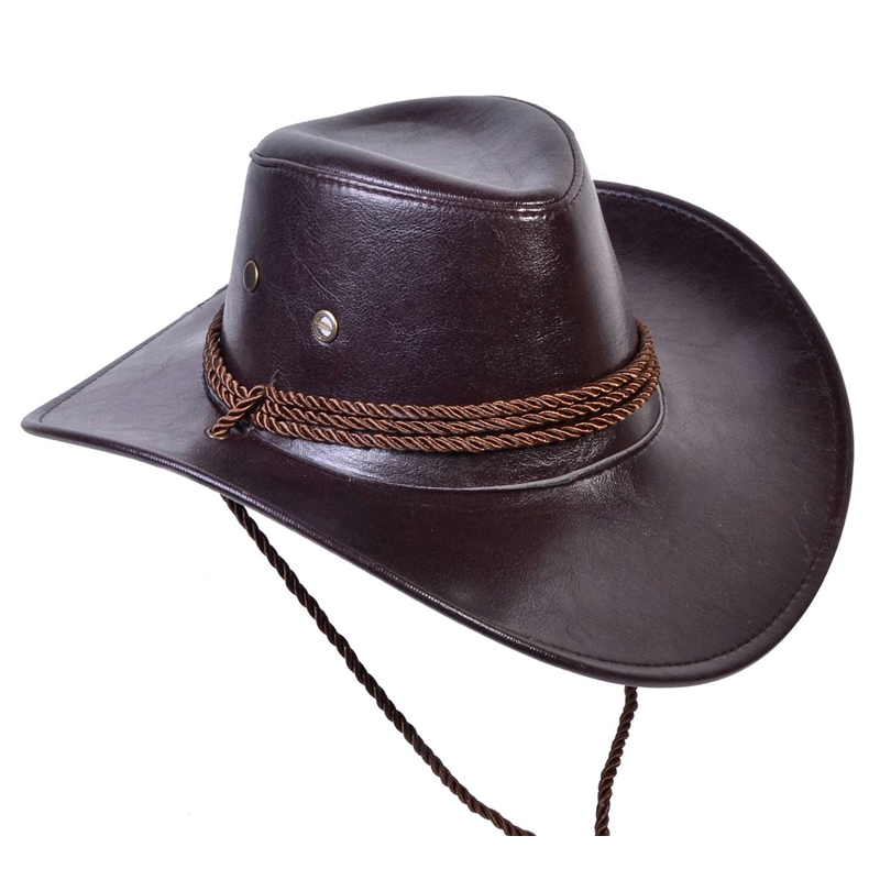 Palarie cowboy, imitatie piele, marime universala 2021 shopu.ro