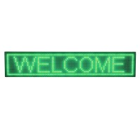 Panou luminos de interior, 100 x 20 cm, LED, text personalizat, Verde
