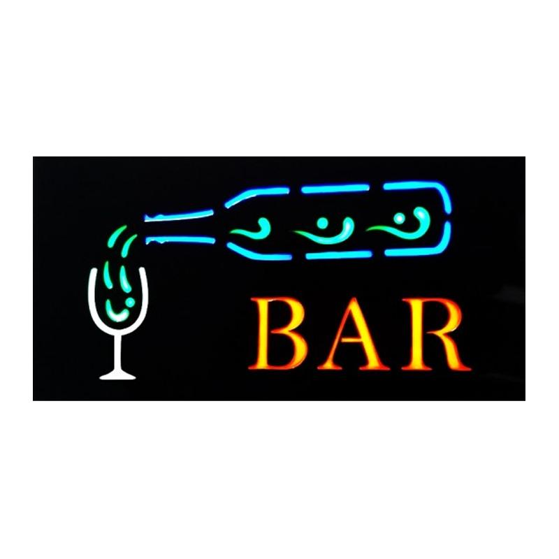 Panou reclama luminoasa, mesaj Bar 2021 shopu.ro