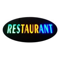 Panou reclama luminoasa, mesaj Restaurant