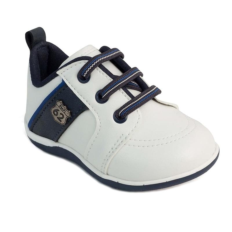 Pantofi Pimpolho, marimea 19, 11.3 cm, 8-9 luni, Alb/Albastru 2021 shopu.ro