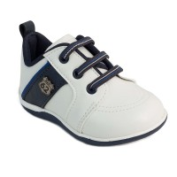 Pantofi Pimpolho, marimea 20, 12 cm, 9-10 luni, Alb/Albastru