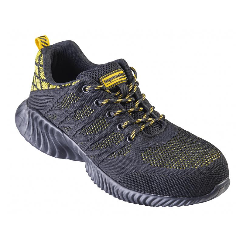 Pantofi de protectie S1 Top Master, marimea 42, textil, bombeu metalic, Negru/Galben shopu.ro