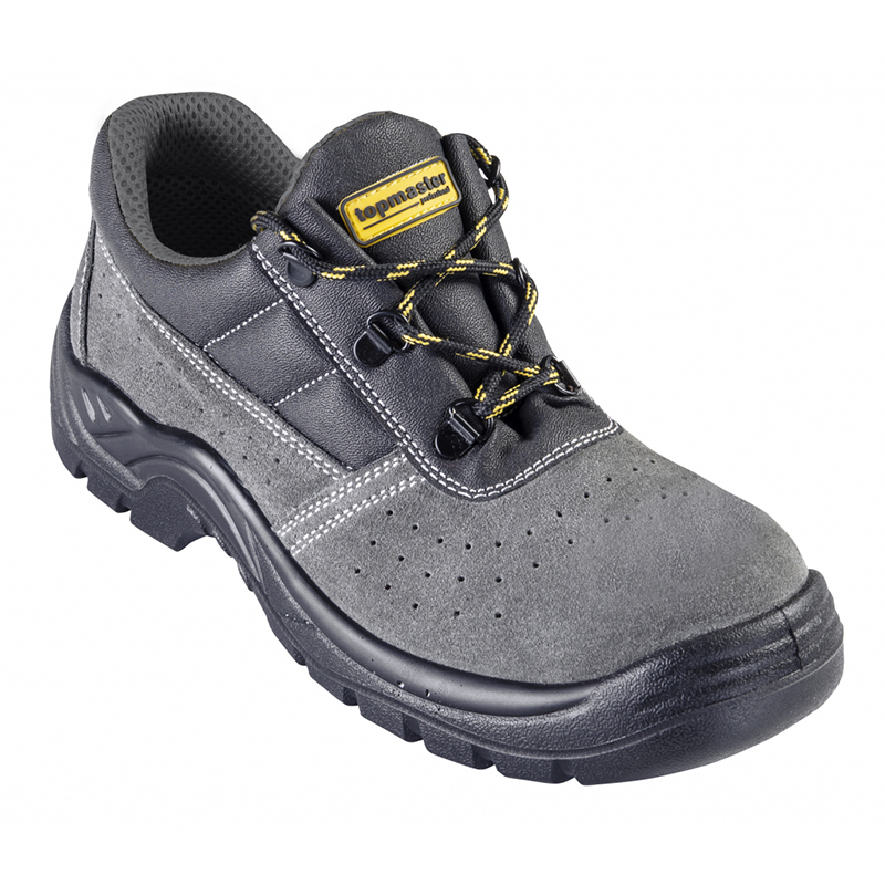 Pantofi de protectie S1P Top Master, marimea 43, piele caprioara, bombeu metalic, Gri/Negru shopu.ro
