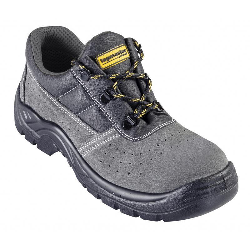 Pantofi de protectie S1P Top Master, marimea 44, piele caprioara, bombeu metalic, Gri/Negru 2021 shopu.ro