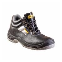 Pantofi de protectie WS3 Top Master, marimea 46, piele naturala, talpa poliuretan, bombeu metalic, parti reflectorizante, Negru