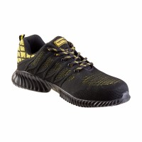 Pantofi de protectie WSL1 Top Master, marimea 46, cauciuc/spuma EVA, bombeu metalic, Negru/Galben