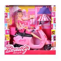 Papusa Barbie cu scuter Vespa Betty, 30 cm, Roz