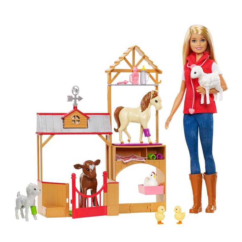 Papusa Barbie la ferma Sweet Farm, accesorii incluse, 3 ani+ 2021 shopu.ro