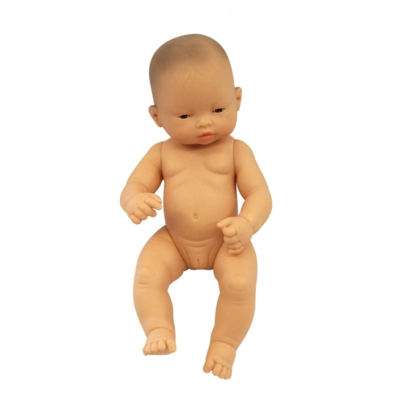 Papusa bebelus asiatic fata Miniland, 32 cm 2021 shopu.ro