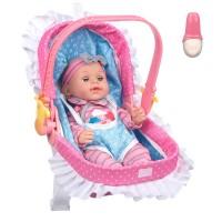 Papusa bebelus cu port bebe, 35.5 cm, 10 tonuri, 3 ani+